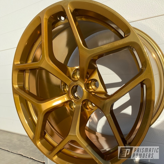 Powder Coating: Wheels,z28,Automotive,SUPER CHROME II PSS-10300,Transparent Gold PPS-5139,Chevy,Camaro,Aluminum Wheels