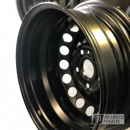 "Powder Coating: Wheels,19"" Wheels,Automotive,FLAT BLACK METALLIC UMB-6738,flat met,Steel Wheels,Flat"