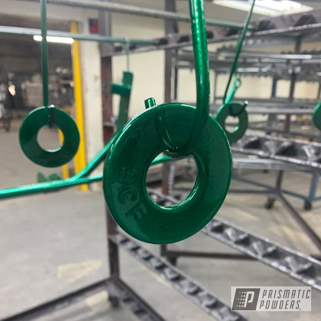 Powder Coating: Automotive,Clear Vision PPS-2974,Automotive Parts,Ultra Illusion Green PMB-5346