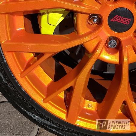 "Powder Coating: Wheels,19"" Wheels,19"",Automotive,Clear Vision PPS-2974,STI,Subaru,Illusion Orange PMS-4620"