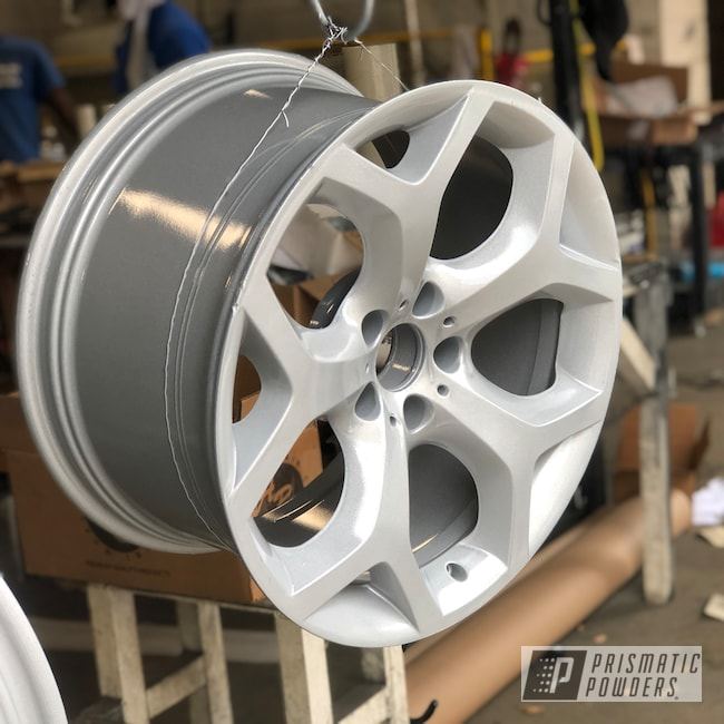 "Powder Coating: Wheels,X5,19"",BMW Silver PMB-6525,Automotive,Alloy Wheels,Clear Vision PPS-2974,BMW,19"" Aluminum Rims"