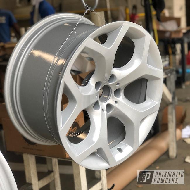 "Powder Coating: Wheels,X5,19"",BMW Silver PMB-6525,Automotive,Alloy Wheels,Clear Vision PPS-2974,BMW,19"" Aluminum Rims"