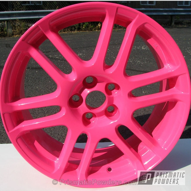 Powder Coating: Wheels,Custom,powder coating,powder coated,Prismatic Powders,Sassy PSS-3063,Pink Wheels