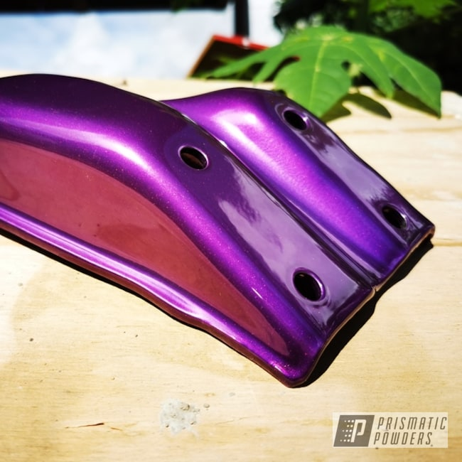 Powder Coating: Purple Glaze PPB-2846,Custom Parts,Casper Clear PPS-4005