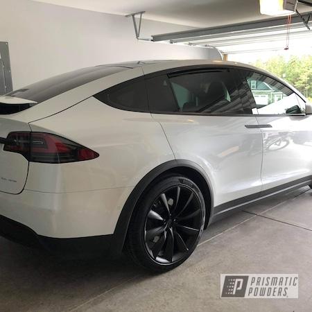 "Powder Coating: Wheels,Automotive,BLACK JACK USS-1522,Aluminum Rims,Tesla Model X,22"",Tesla,Aluminum Wheels"