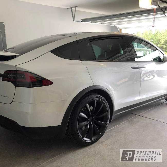 "Powder Coating: Wheels,Automotive,BLACK JACK USS-1522,Aluminum Rims,Tesla Model X,22"",Tesla,Aluminum Wheels"