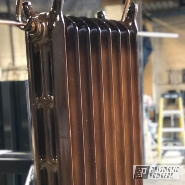 Powder Coated Antique Radiator In Pms-6374 And Ppb-4520