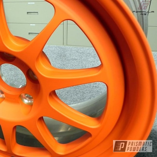 Powder Coating: Wheels,Custom,powder coating,powder coated,Prismatic Powders,orange,M&M ORANGE PSS-5678