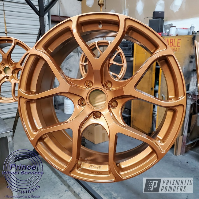 Powder Coating: Wheels,APR S01,Aluminum,Automotive Rims,GTI,Tomic Gold II EMB-4448,Automotive Wheels,Aluminum Wheels,Alloy Wheels,Rims,apr,Volkswagen, Mk7 GTi,VW