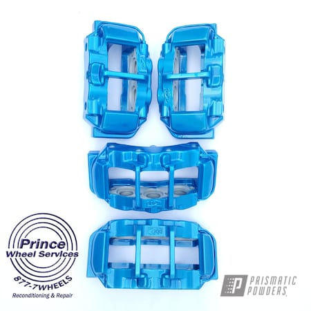 Powder Coating: Automotive,Calipers,Clear Vision PPS-2974,Brakes,Chevrolet,Illusion Lite Blue PMS-4621,Brake,Chevy,Corvette,Automotive Parts