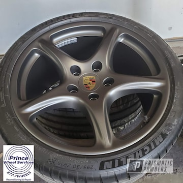 Powder Coated Alloy Porsche Rims In Umb-6578