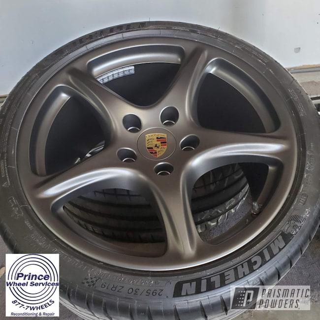 Powder Coating: Wheels,FORGED CHARCOAL UMB-6578,Automotive,Alloy Wheels,Rims,Aluminum Rims,Porsche,Aluminum,Automotive Rims,Automotive Parts,Automotive Wheels,Aluminum Wheels