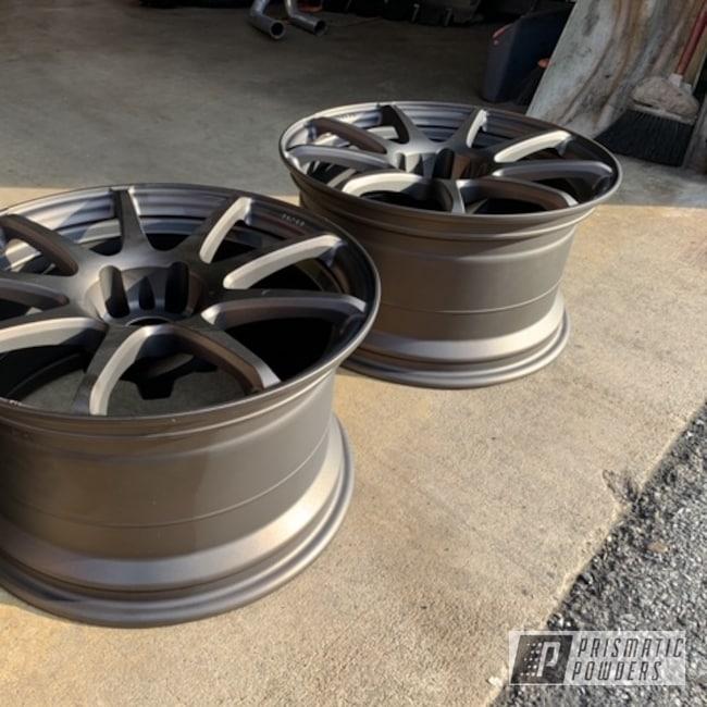 "Powder Coating: Antique Bronze II PMB-6407,Wheels,Automotive,Weds,18"" Aluminum Rims"
