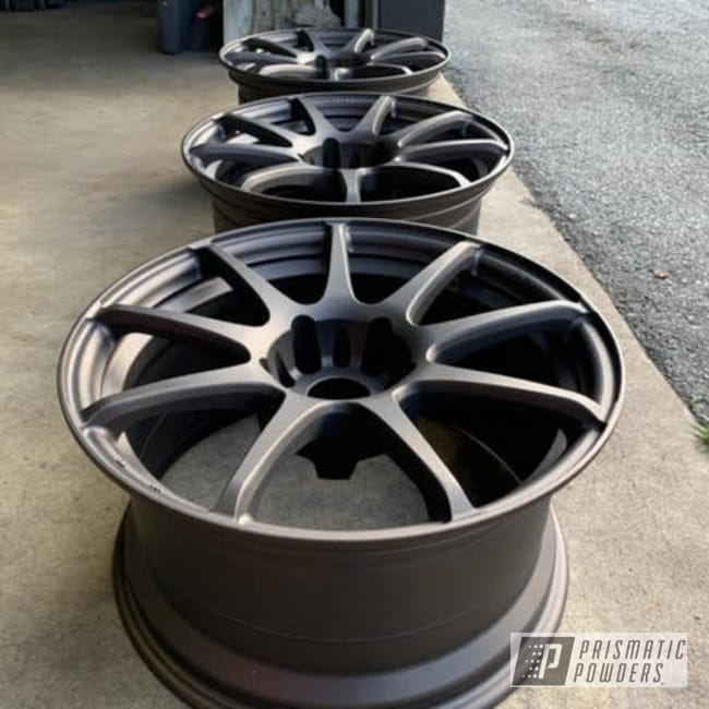 Powder Coated Set Of 18 Inch Rims In Pmb-6407