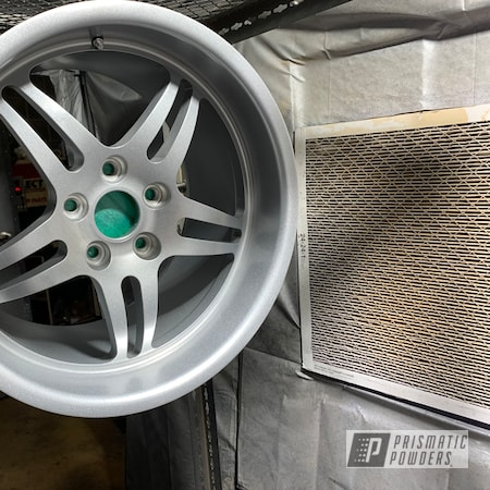 "Powder Coating: Wheels,CCW Wheels,Automotive,CCW,18"" Aluminum Rims,Alien Silver PMS-2569,SP505"