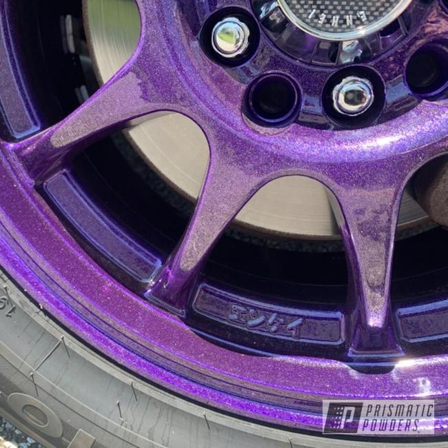 Powder Coated Set Of Enkei 15 Inch Aluminum Rims In Upb-5233