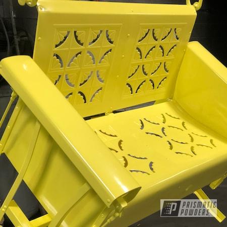 Powder Coating: RAL 1016 Sulfur Yellow,Glider,Patio Bench