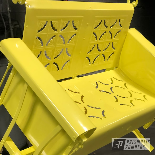 Powder Coating: RAL 1016 Sulfur Yellow,Glider,Patio Bench