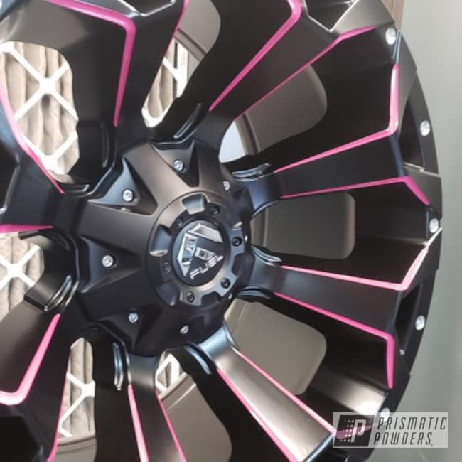 "Powder Coating: Wheels,Automotive,Fuel,BLACK JACK USS-1522,20"" Wheels,Passion Pink PSS-4679,20"",Fuel Wheels,Jeep"