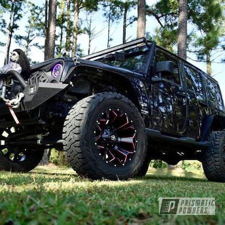 "Powder Coating: Wheels,Automotive,Fuel,BLACK JACK USS-1522,20"" Wheels,Passion Pink PSS-4679,20"",Fuel Wheels,Jeep"