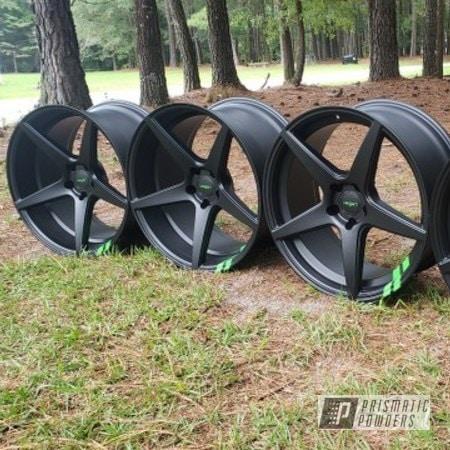 "Powder Coating: Wheels,Automotive,BLACK JACK USS-1522,20"" Wheels,Charger,Dodge,Sweet Pea Green PSS-1070"