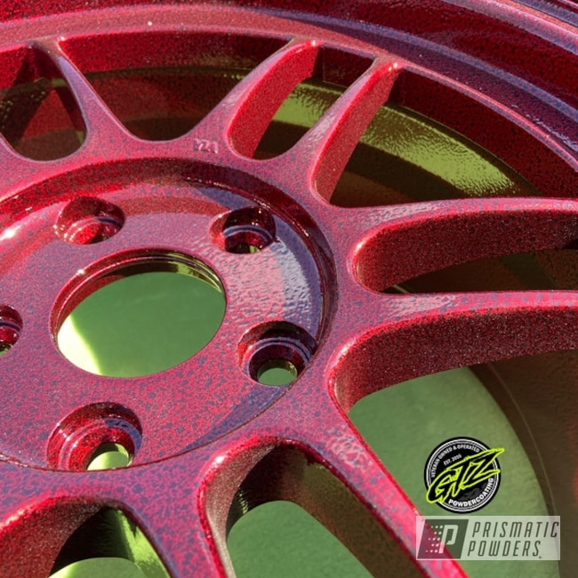 Powder Coated 18 Inch Aluminum Wheels In Ups-1506 And Pvs-3083