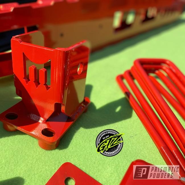 Powder Coating: Automotive,Clear Vision PPS-2974,Ink Black PSS-0106,Lift Kit,Fire Orange PMB-6463