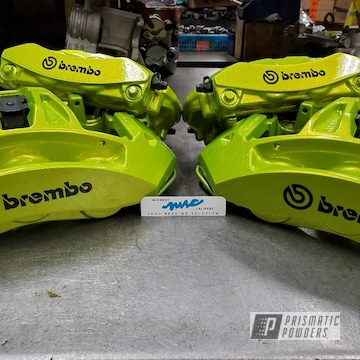 Powder Coated Brembo Brake Calipers In Pps-4765
