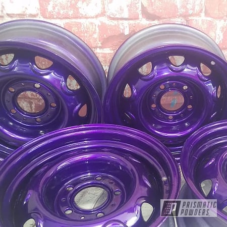 """Powder Coating: Illusion Purple PSB-4629,Wheels,Automotive,Clear Vision PPS-2974,Steel Wheels,Rally Wheels,Automotive Rims,Illusions,Automotive Wheels,15"""" Steel Rims"""