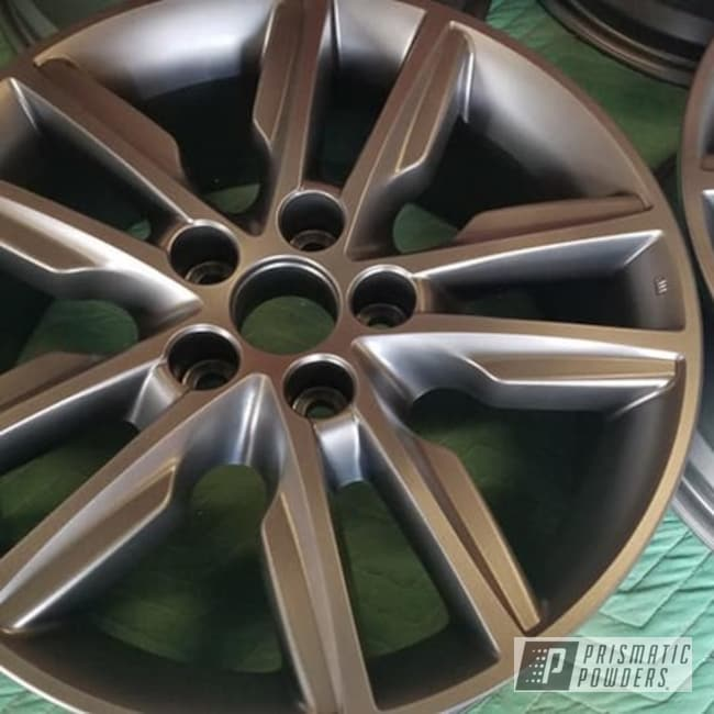 "Powder Coating: Wheels,Automotive,Evo Grey PMB-5969,17"" Aluminum Rims,Aluminum Rims,Automotive Rims,Toyota Rims,Aluminum Wheels"