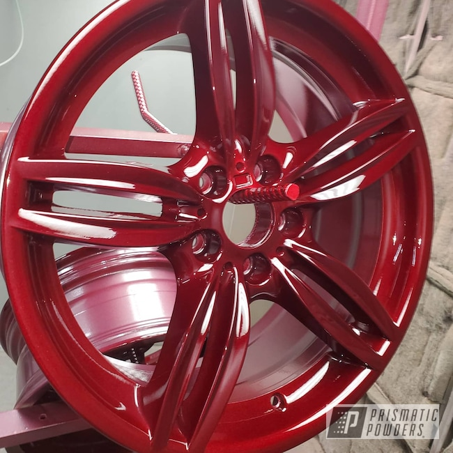 "Powder Coating: Wheels,19"",Automotive,Clear Vision PPS-2974,BMW,Illusion Cherry PMB-6905,19"" Aluminum Rims,535,Car Parts"