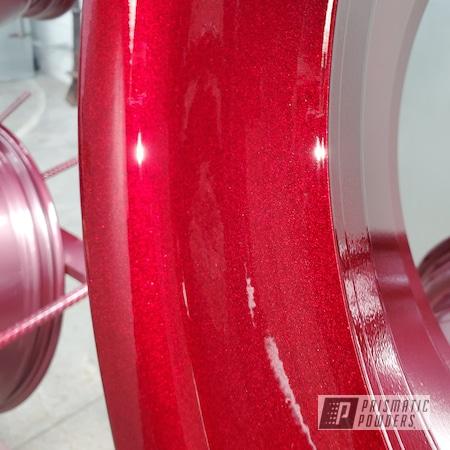 "Powder Coating: Wheels,19"",Automotive,Clear Vision PPS-2974,BMW,Illusion Cherry PMB-6905,19"" Aluminum Rims,535,Car Parts"
