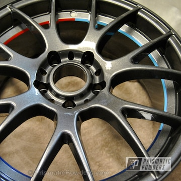 Kingsport Grey And Powder Blue And Truck Blue And Astatic Red With Clear Vision Top Coat