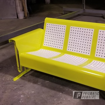 Powder Coated Refinished Metal Glider In Pss-7068 And Pss-5690