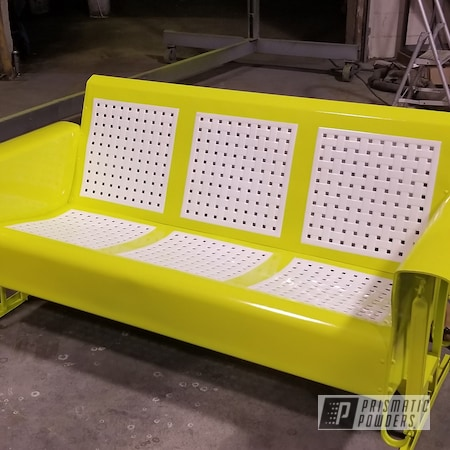 Powder Coating: Metal Glider,Chartreuse Sherbert PSS-7068,3 Person Glider,Antique Glider,Gloss White PSS-5690