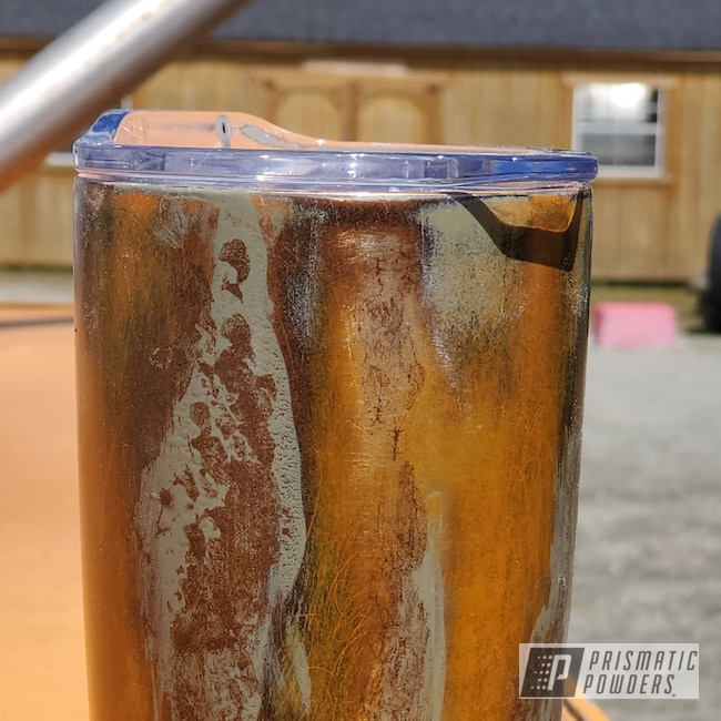 Powder Coating: Rusty Sandpaper PTB-5878,Tumbler,Tangerine PMB-4050,Distressed,Khaki Green PSB-5575,Orchid Lavender PSS-0961