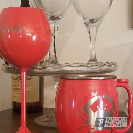 Powder Coating: Personalized Cup,Nester PMB-3036,Coral