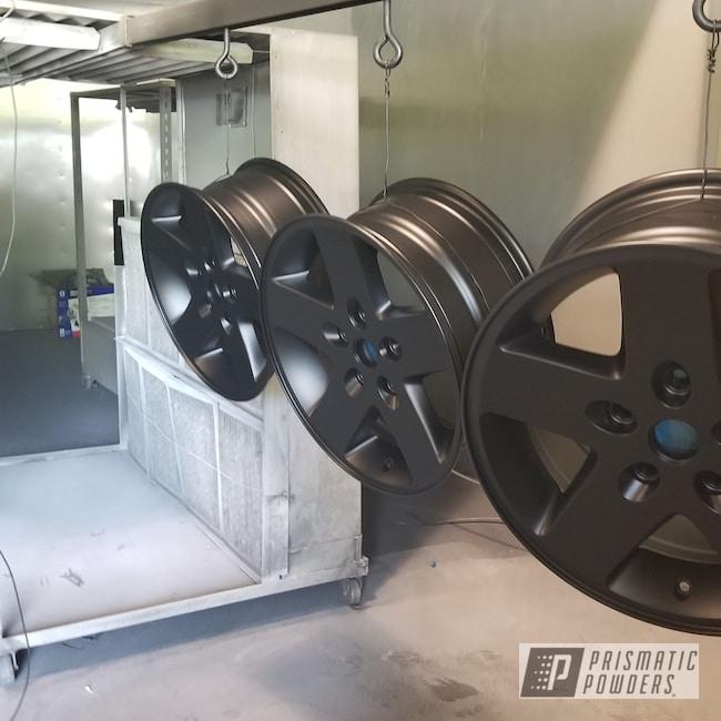"Powder Coating: Wheels,Automotive,20"" Wheels,20"",Silk Satin Black HSS-1336"
