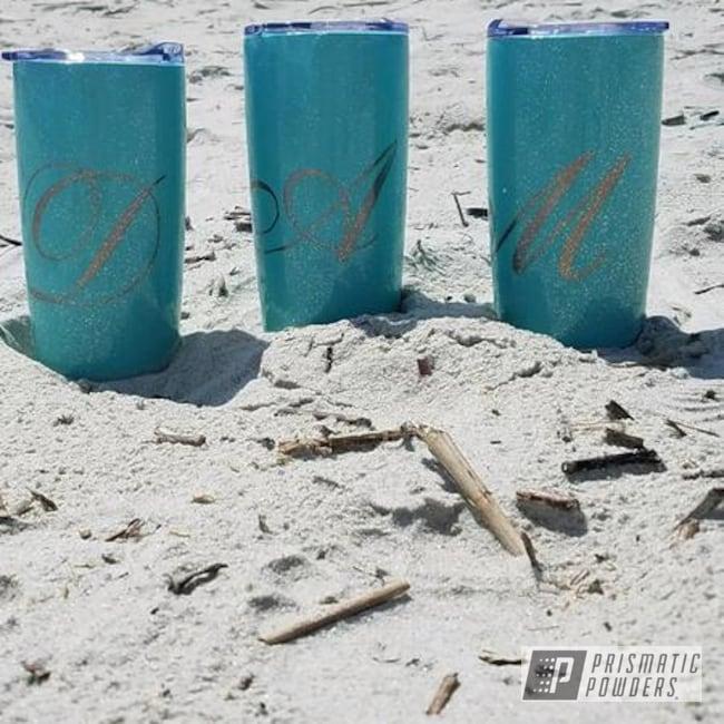 Powder Coating: beach,Sea Foam Green PSS-4063,girls weekend,bridal,Rockstar Sparkle PPB-5835,Tumblers,Custom Tumbler