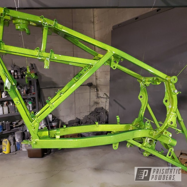 Powder Coating: Automotive,Clear Vision PPS-2974,Green,Illusion Sour Apple PMB-6913,4 Wheeler