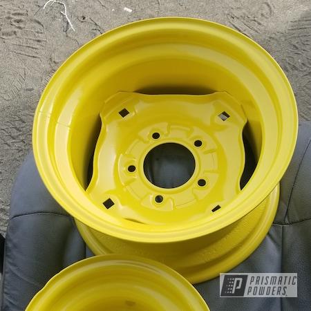 Powder Coating: Wheels,Automotive,Vintage,15,Sunshine Yellow PSS-2600,Restoration,Tractor,John Deere,Lawn Tractor,John Deere Yellow
