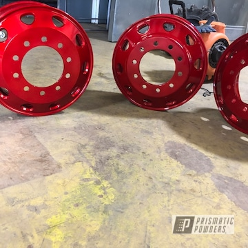 Powder Coated Automotive Parts In Pms-2569 And Pps-4491