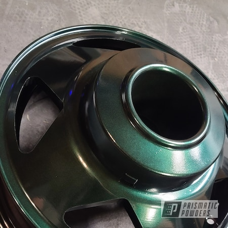 Powder Coating: Wheels,Automotive,Alloy Wheels,Forest Sparkle PMB-5696,Ford