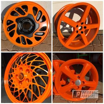 Powder Coated Orange Rims