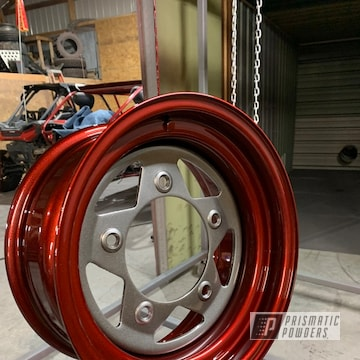 Powder Coated Wheel In Ups-1506 And Pmb-5027