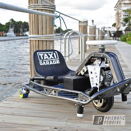 Powder Coating: Taxi Garage Crazy Cart,Taxi Garage,Crazy Cart,Drift,Go Cart,Cadillac Grey PMB-6377