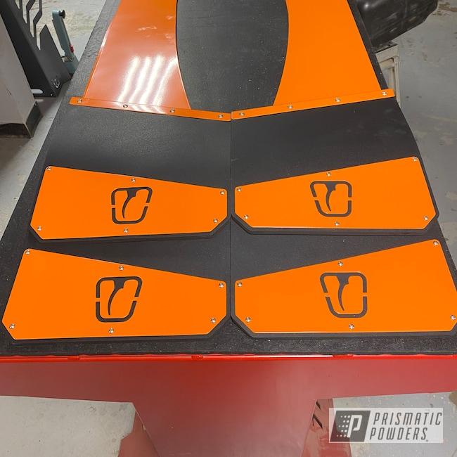 Powder Coating: Automotive,Accessories,Mudflap,Dodge,International Orange PSS-2779