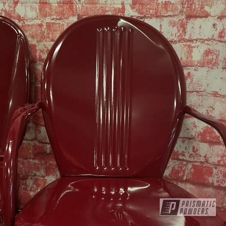 Powder Coating: Vintage Chairs,Patio Chairs,Chairs,RAL 3005 Wine Red,Patio Furniture,Vintage Lawn Chairs,Lawn Chairs,Furniture