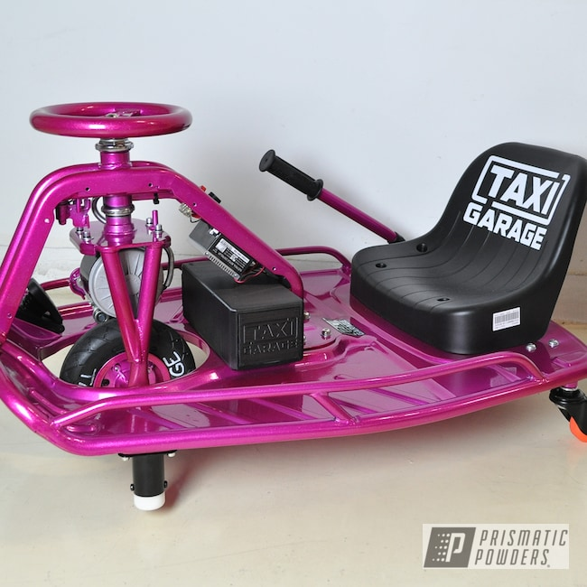 Powder Coating: Powder Coated Go Cart,Drift Cart,RACING RASPBERRY UPB-6610,Taxi Garage Crazy Cart,Taxi Garage,Crazy Cart,Go Cart
