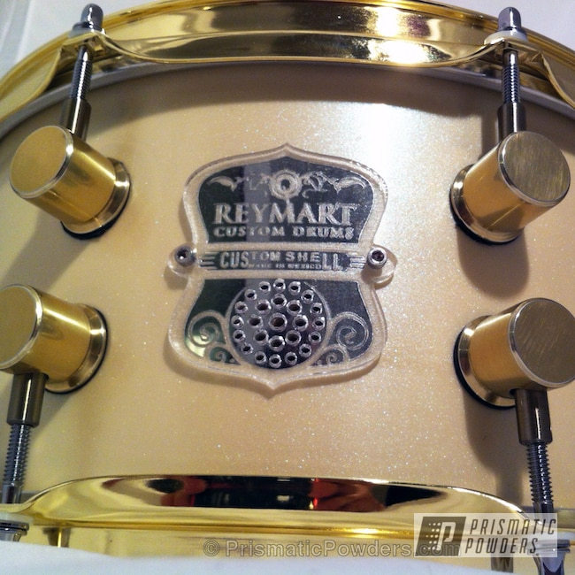 Powder Coating: Custom,REYMART CUSTOM DRUMS,Transparent Brass PPS-5159,powder coating,powder coated,Prismatic Powders,snare drum,Brass Monkey,Miscellaneous